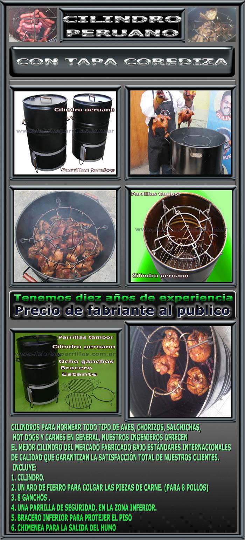 Cilindro peruano parrillas tambor